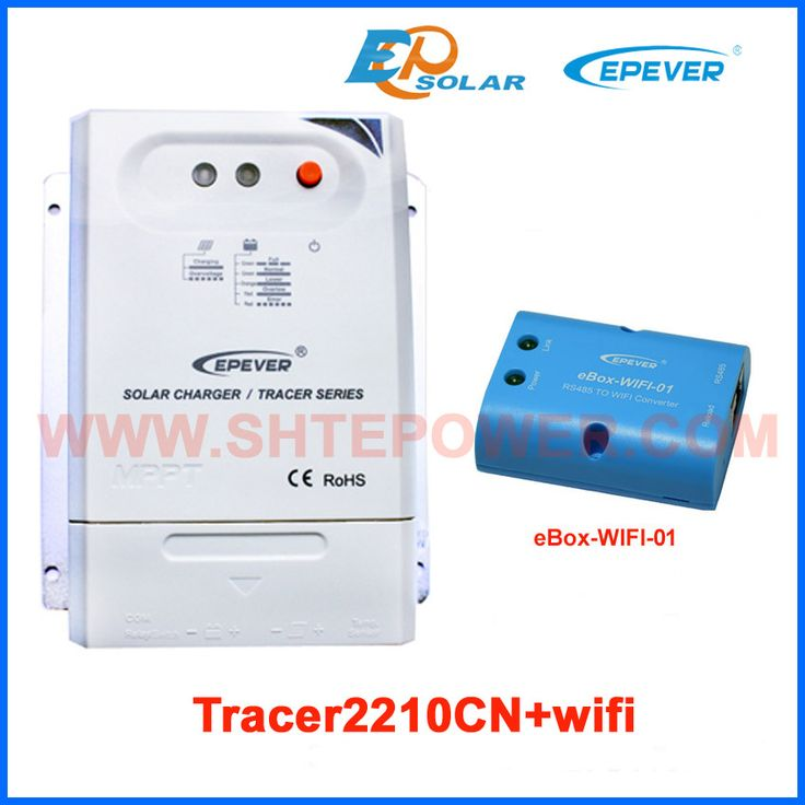 MPPT Tracer2210CN 20A 20amp solar charger controller with eBOX-Wifi-01 12V 24V auto work Max PV input 100A EPEVER EPSolar