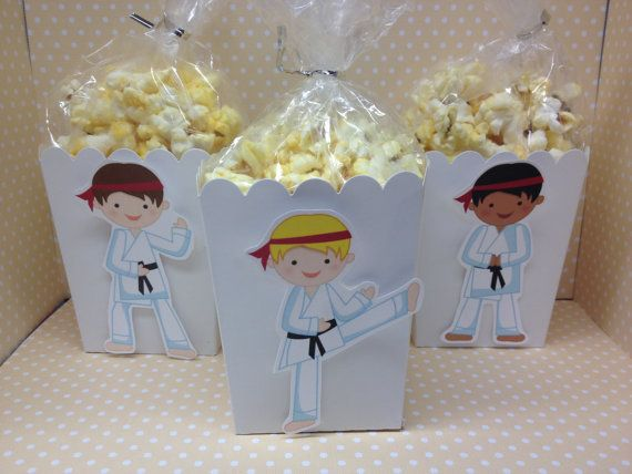 Karate Martial Arts Party Popcorn or Favors Boxes  Set of 10 by PartyByDrake | Etsy