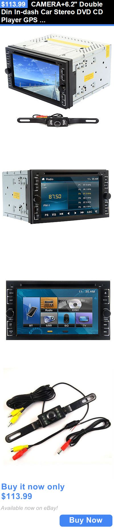Vehicle Electronics And GPS: Camera+6.2 Double Din In-Dash Car Stereo Dvd Cd Player Gps Navi Bluetooth Radio BUY IT NOW ONLY: $113.99