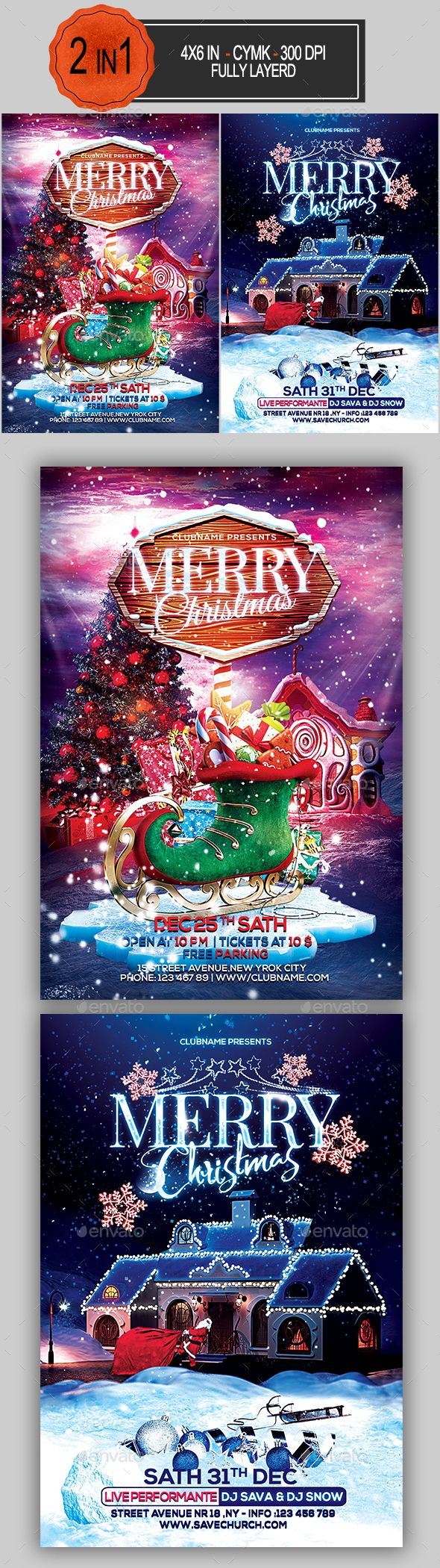 1301 besten Christmas Flyer Templates Bilder auf Pinterest | Flyer ...
