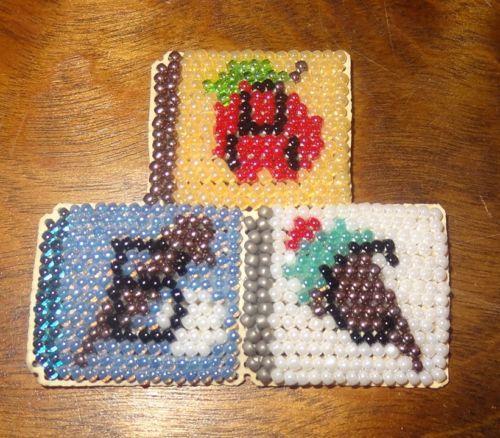 Fridge-Magnet-ABC-Blocks-Beaded-Handmade-Glass-Beads-Finished-Mill-Hill-School