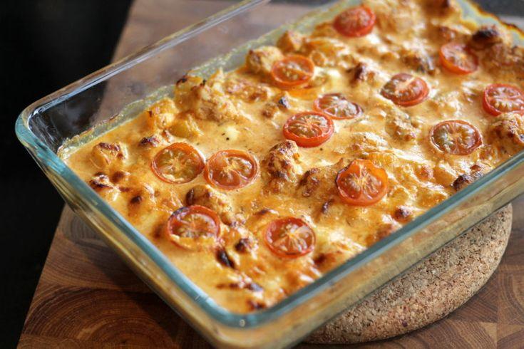 Kycklinggratäng med tomat och curry