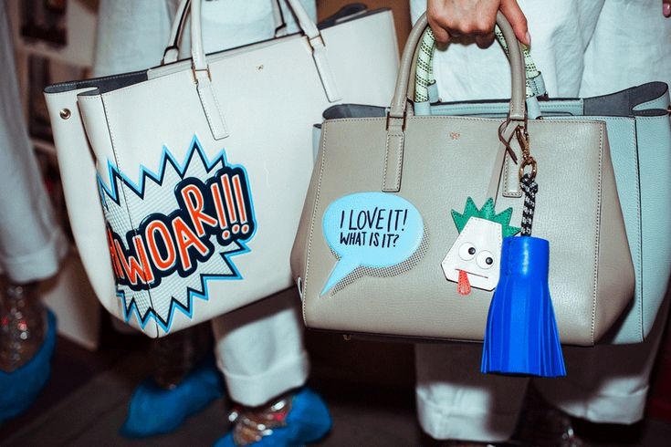 The #AnyaHindmarch #SS15 Featherweight Ebury, brought to life by #FashGIF #ANYAanimation