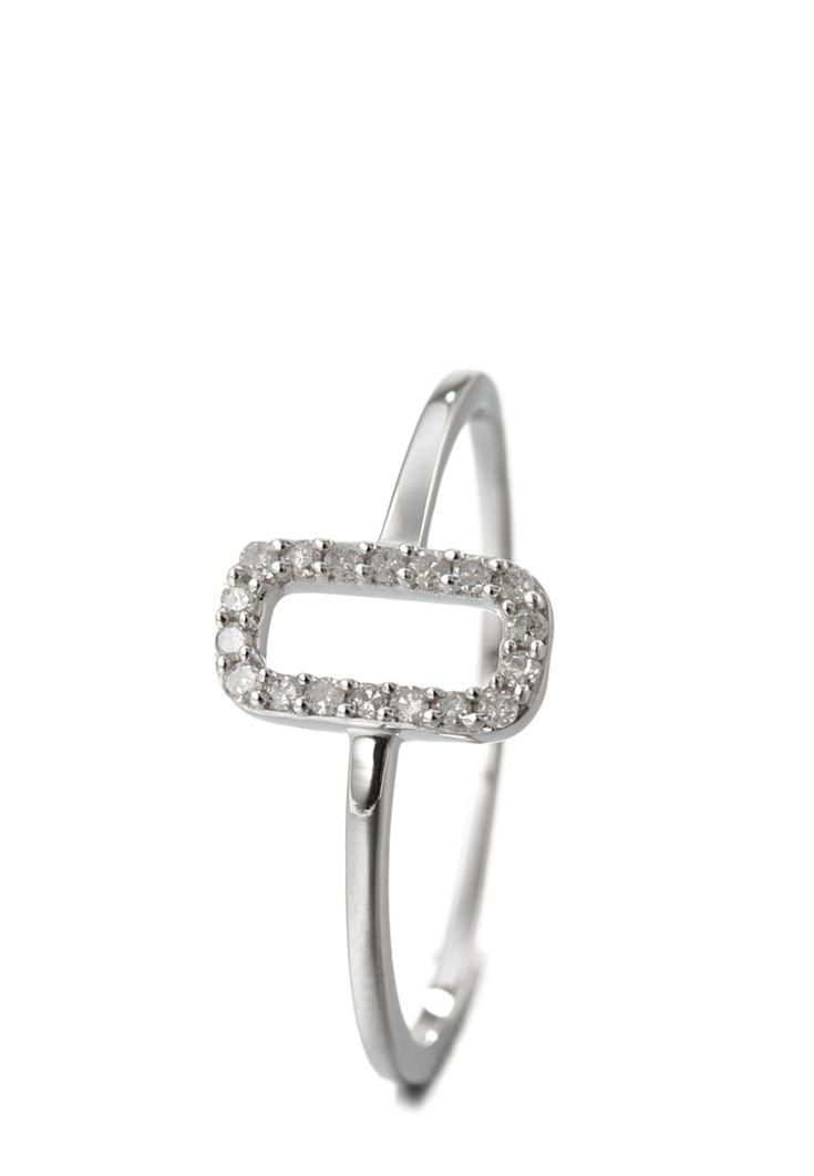 Essential Jewels Ring, 9K Weißgold, Diamant, weißgolden/weiß silber Jetzt bestellen unter: https://mode.ladendirekt.de/damen/schmuck/ringe/silberringe/?uid=bef09c10-8863-5eef-af2c-ed44e6d0f74b&utm_source=pinterest&utm_medium=pin&utm_campaign=boards #schmuck #ringe #bekleidung #silberringe Bild Quelle: brands4friends.de
