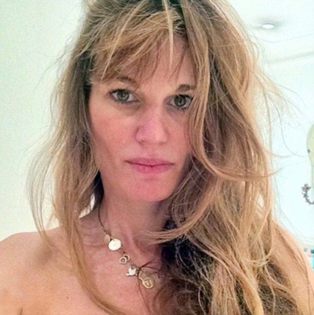 Woke up like this: Jemima  Goldsmith (Khan) decided to share her au naturel look with thousands of followers...