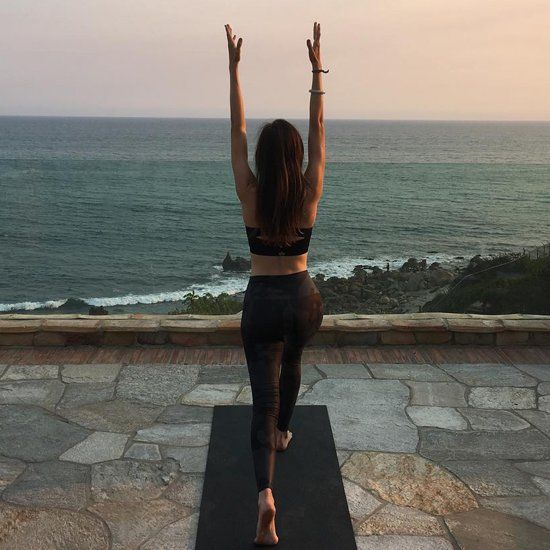 Camilla Belle Yoga Picture August 2016