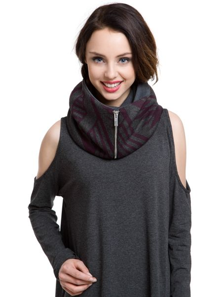 Aztec Grey Snood