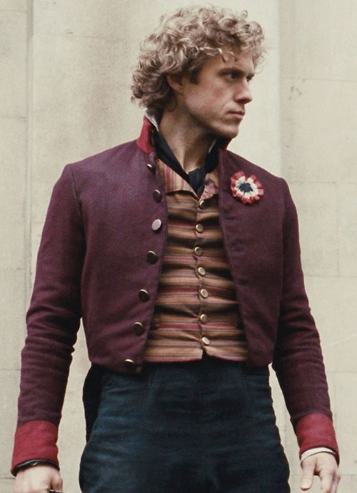 Aaron Tveit - Enjolras....in an interview the director, Tom Hopper, said that Aaron was very happy with his red jacket