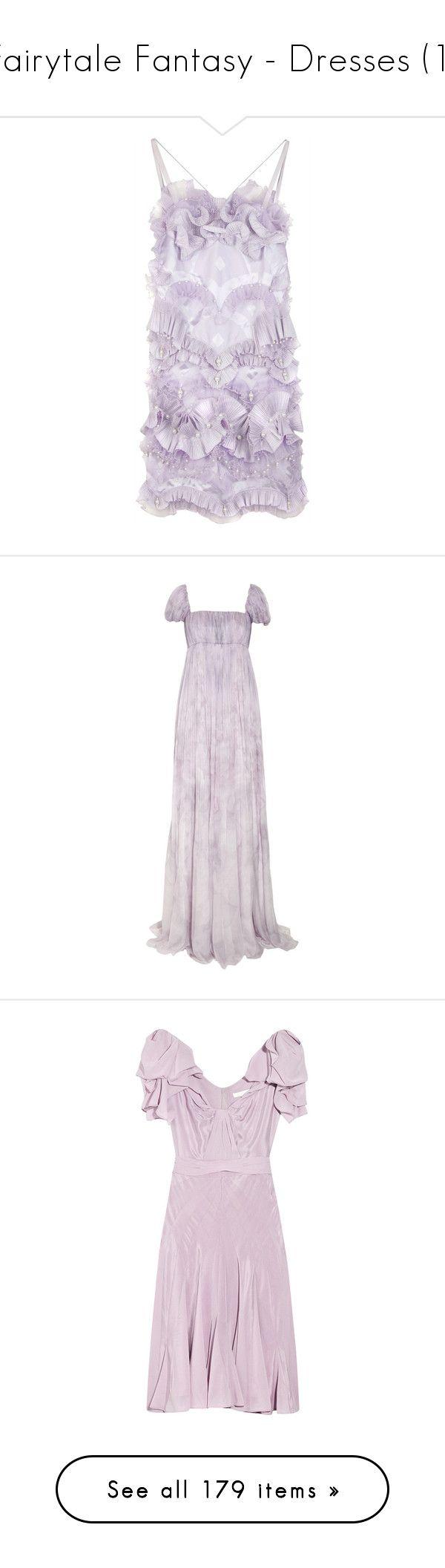 """Fairytale Fantasy - Dresses (1)"" by metalheavy ❤ liked on Polyvore featuring dresses, vestidos, purple, haljine, women, purple summer dresses, summer cocktail dresses, purple dress, frilly dresses and pleated dress"