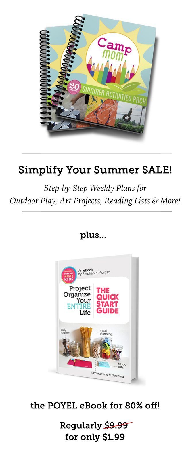 Simplify Your Summer Bundle - Such great resources for slowing down, keeping your kids engaged, and getting a few thing done this summer!
