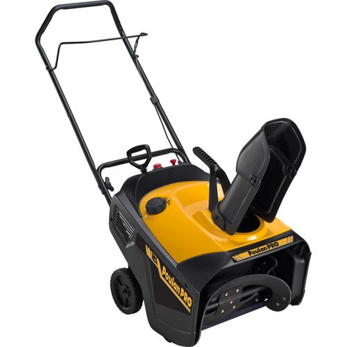 """Poulan Pro 21"""" 136cc Single-Stage Gas Snow Blower (00085388803603) Poulan Pro 21"""" 136cc Single-Stage Gas Snow Blower: 13"""" intake height Electric start 8"""" auger 136cc 2-year manufacturer warranty Poulan Pro Gas 21"""" Single-Stage Snow Thrower model# 961840001"""