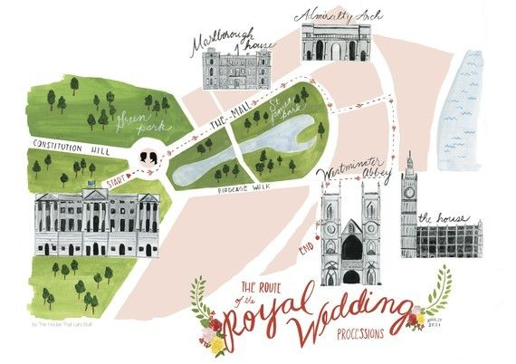 Limited Edition Letterpress Processional Map by House That Lars Built on EtsyPrince Williams, Illustration Maps, Route, Totes Bags, Royal Weddings, Welcome Bags, Wedding Art, Girls Nurseries, Design