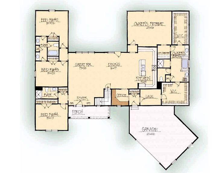 Custom Home Builder Floor Plans: Schumacher Homes: Floorplans - Meadowland Series