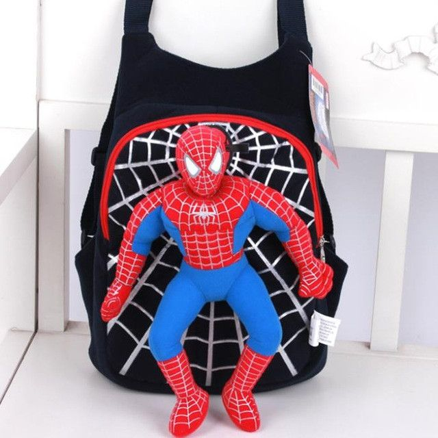 2017 new children baby cute 3D Spiderman backpack schoolbag for boys girls cartoon bags Kids Plush mochilas escolares infantis