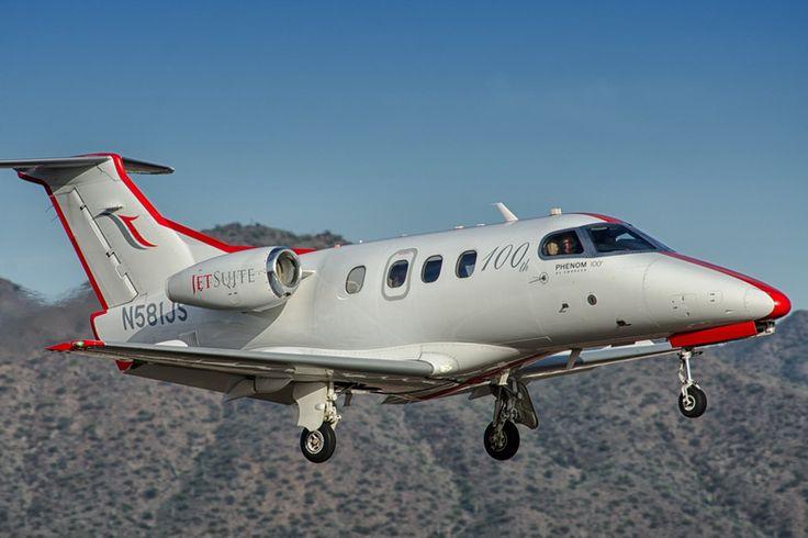 This JetSuite Phenom 100 is the 100th Embraer Phenom 100, seen here arriving at Scottsdale Airport.  www.ottosenphotography.com | © Matt Ottosen
