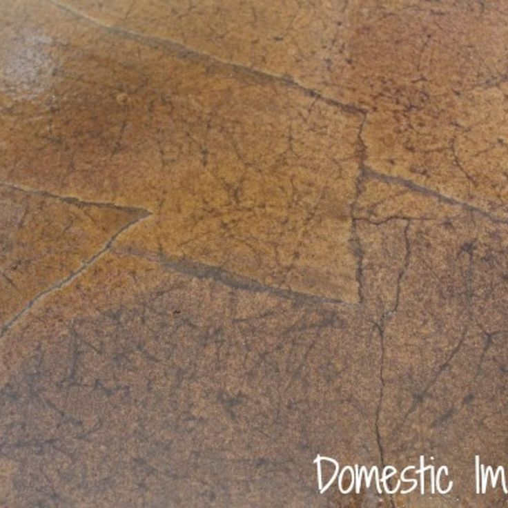 A close up of the finished floor, it almost looks like old leather.