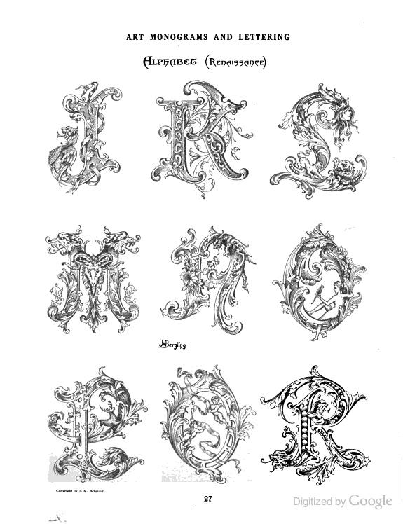 J-R Redaissance GORGEOUS monograms