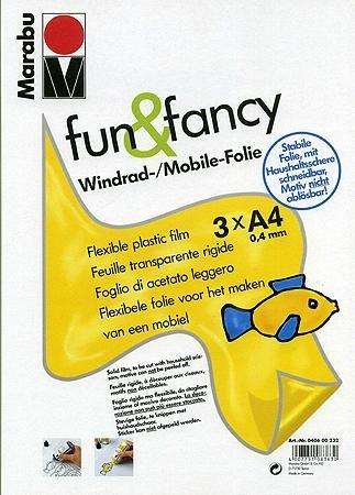 FUN & FANCY - FILM TRANSPARENT RIGIDE A4 - 0,4 MM Marabu