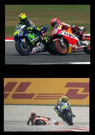 Rossi shows Marquez whose boss and subsequently throws away 2015 championship.