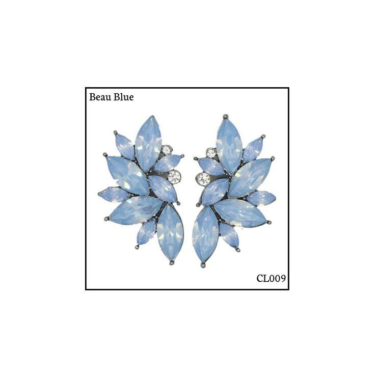 Ref: CL009 Beau Blue . Medidas: 4 cm x 2.5 cm . So Oh: 9.99 . Disponível para entrega imediata! Boas compras! #sooh_store #onlinestore #brincos #earrings #fashion