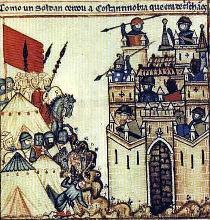 Cantigas_de_Santa_Maria-frontis 1280-Siege of Constantinople