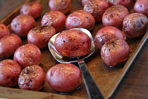 Salt and Vinegar Roasted Potatoes with Kernel Season's popcorn seasoning. | SouthernBite.com