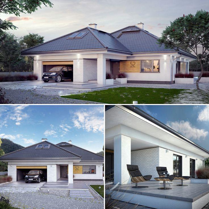 Ariel 7 (223,02 m2) to projekt domu parterowego z użytkowym poddaszem. Pełna prezentacja projektu jest dostępna na stronie: https://www.domywstylu.pl/projekt-domu-ariel_7.php #ariel7 #projekty #projekt #dom #domywstylu #mtmstyl #projektygotowe #ariel #architektura #architecture #home #houses #moderdesign #design #architektura #architecture #budujemydom