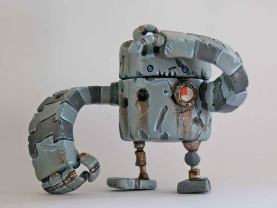 Rusty Robot Series 1 Pathfinder by Spacecowsmith on Etsy, £60.00