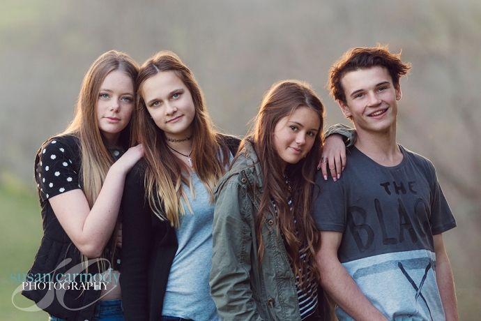 Teens, friends, late evening light.