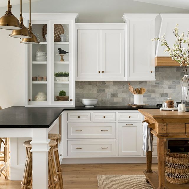 Modern French Country Home Black Kitchen Countertops New Kitchen Cabinets Kitchen Renovation