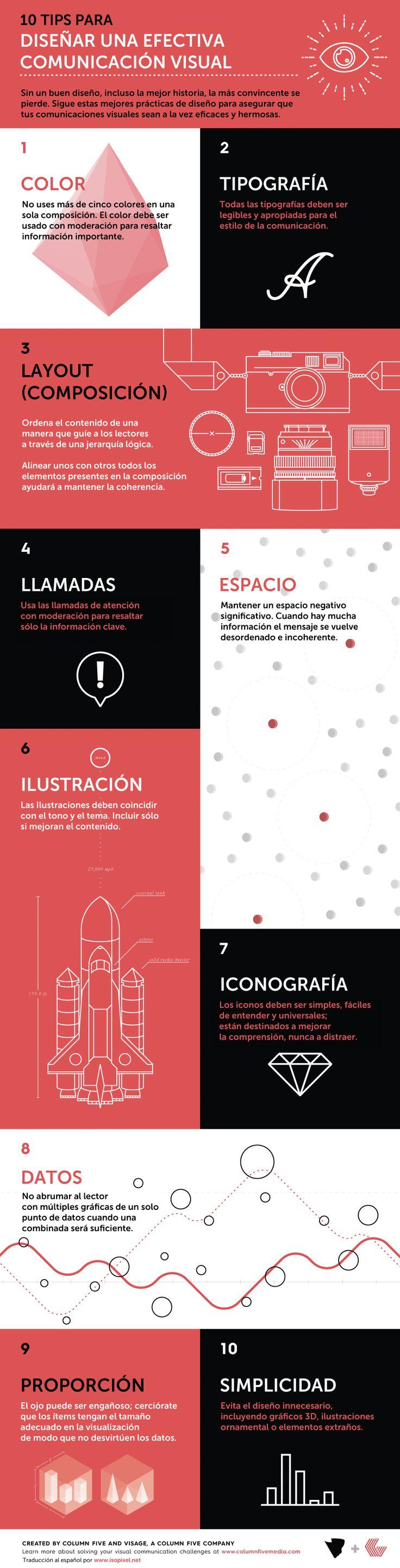 10 consejos para diseñar una comunicación visual efectiva – Infografía