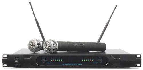 Microfonos Inalambricos de Mano con Receptor UHF Profesional