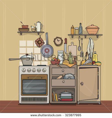 Vintage Kitchen Utensils Illustration 8 best illustrated utensils images on pinterest | kitchen utensils