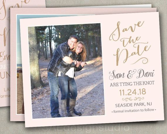 PInk Blush Gold Wedding Save The Dates by SAEdesignstudio on Etsy