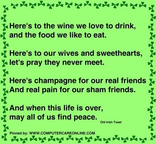to wives and sweethearts may they never meet