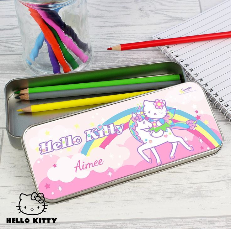 This elegant Hello Kitty Unicorn Pencil Tin with Pencil Crayons is an ideal gift to help keep their stationery safe and sound!