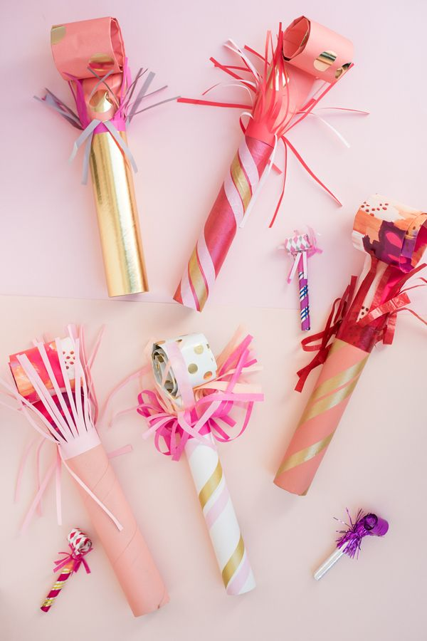 Giant Party Blowers DIY