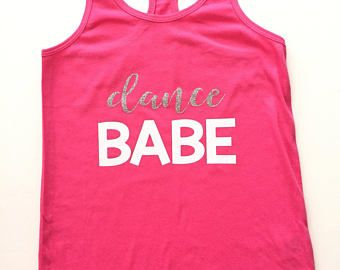 Dance Babe tank, dancer DANCEWEAR, girls dancewear, dance shirt , dance tank, dance gits, christmas gifts, free shipping