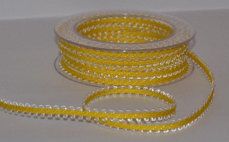 Taśma+ozdobna-+7mm+żółta-Wielkanoc+w+Anita-+Home&+Design+na+DaWanda.com