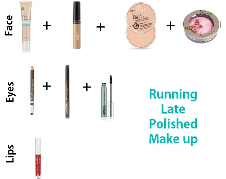 Polished Make Up for when you're running late! Drugstore products!