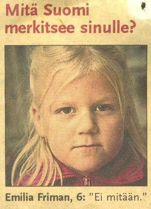Netissä levinnyt klassikkokuva vanhasta lehden gallupista.