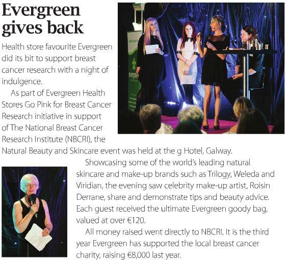 Evergreen support #NBCRI each October for #BreastCancerAwarenessMonth