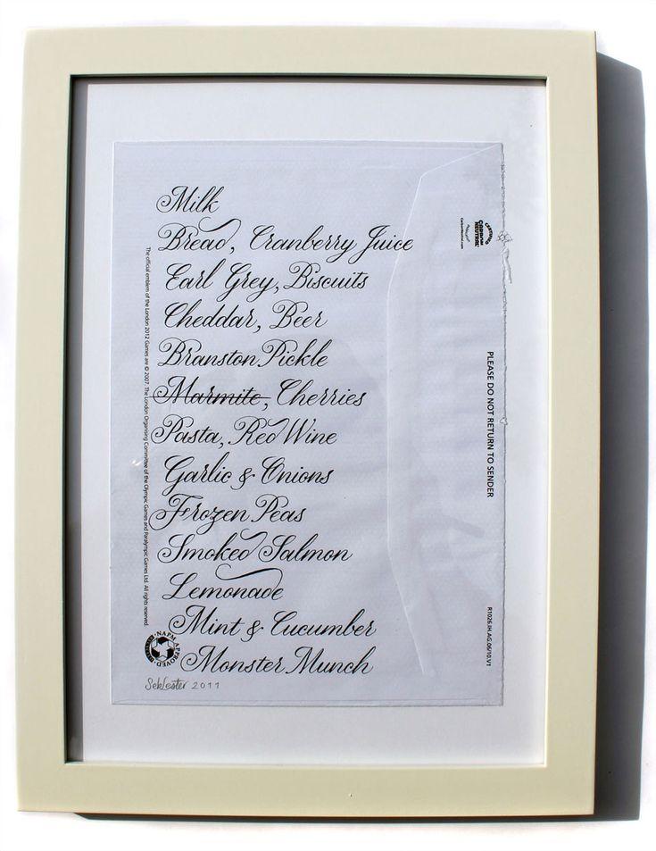 Beautiful shopping lists