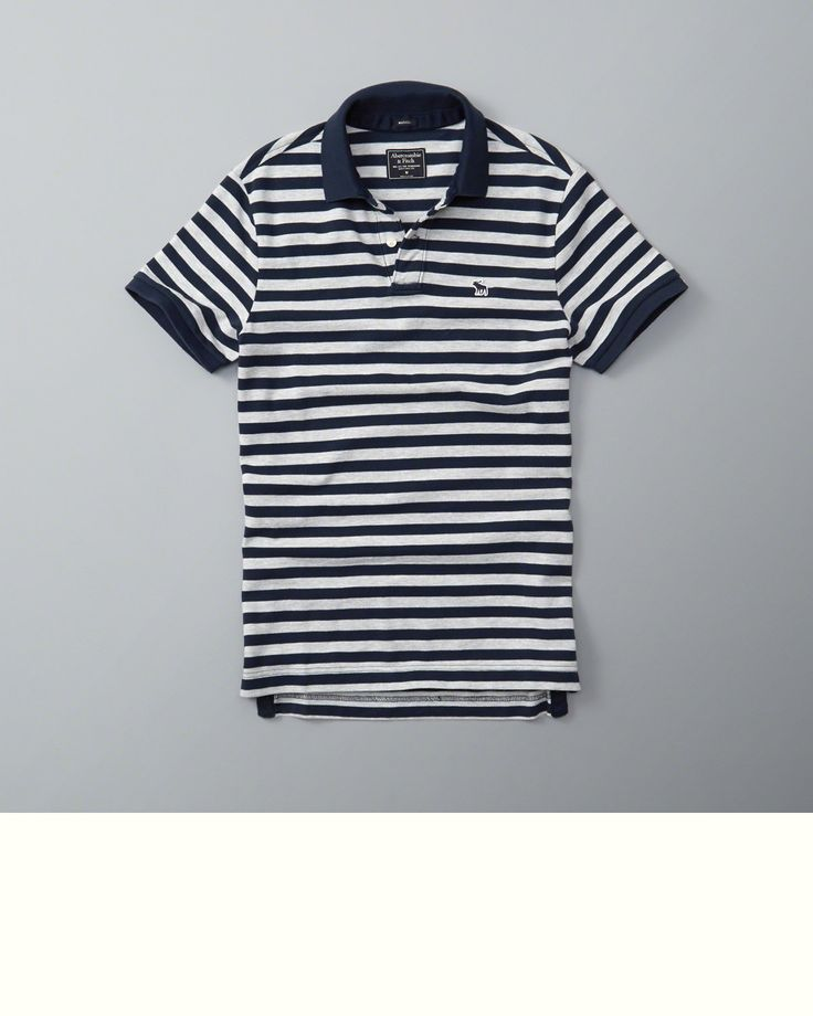 Mens Striped Polo   Mens Tops   eu.Abercrombie.com