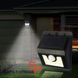 a foco lampara 8 led solar exterior jardin resistente agua sensor movimiento sp