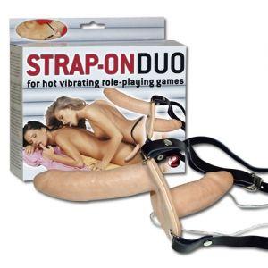 Strap on Duo Vibro 15cm