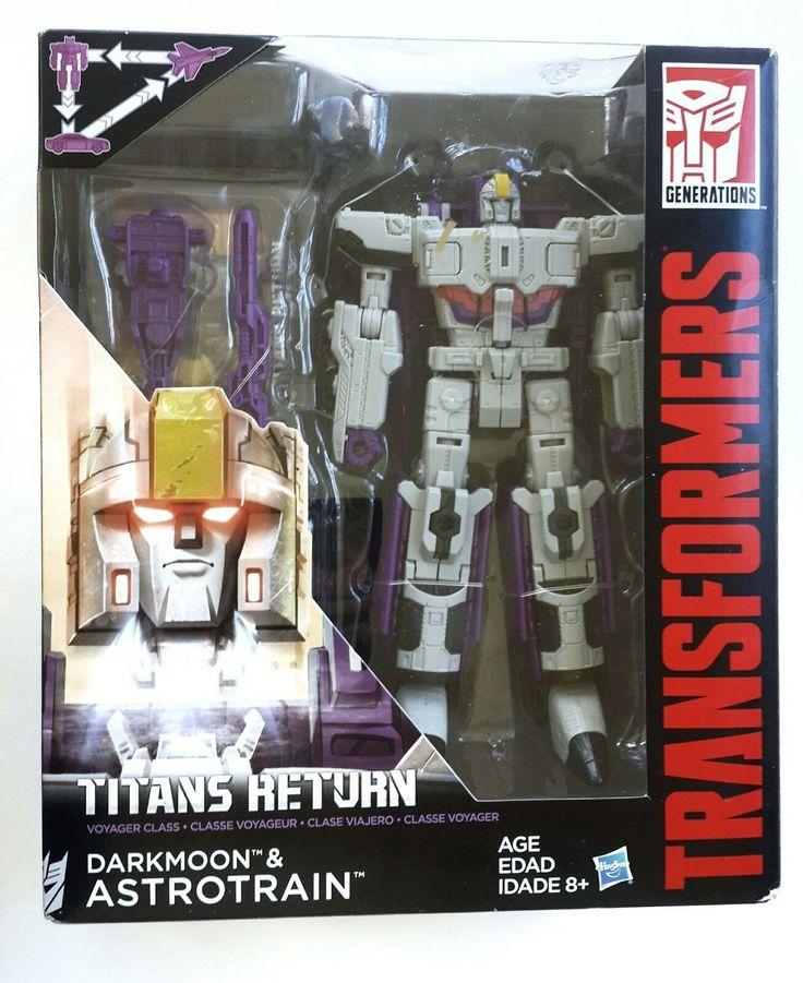 Transformers 2016 DARKMOON & ASTROTRAIN Voyager Class Titans Return Generations   Titan Master DARKMOON ASTROTRAIN Decepticonworks with - Voyager Class Alpha Trion. - Deluxe Class Wolfwire. | eBay!