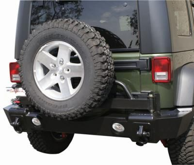 2010 JEEP WRANGLER (JK) Rampage Recovery Rear Bumper with Swing Away Tire Carrier… #JeepAccessories #JeepParts #Wrangler #Cherokee #Liberty