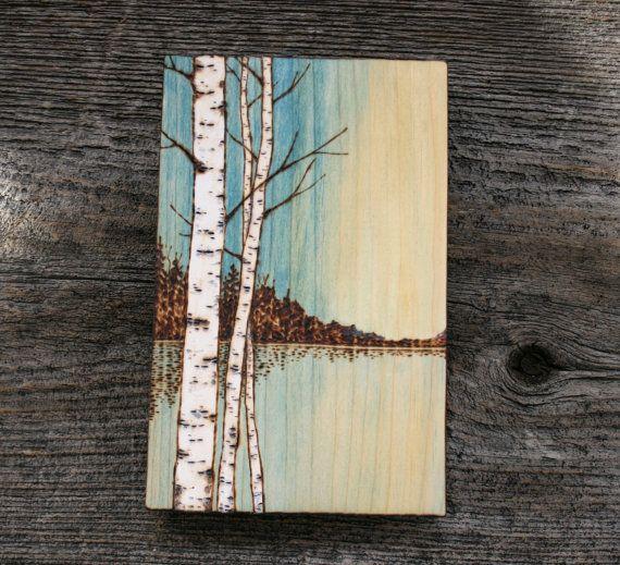 Azul cielo Art Block leña por TwigsandBlossoms en Etsy