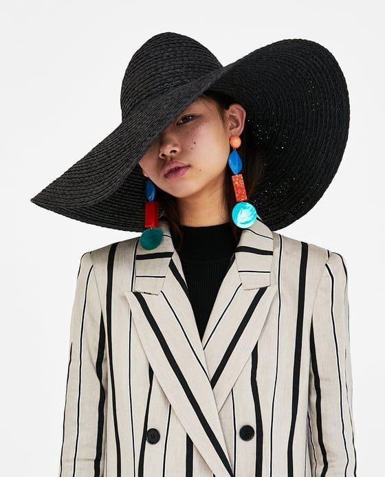 WIDE-BRIM SUN HAT from Zara  c84569fdb89